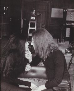 John Lennon and Yoko Ono-during their entire relationship they only spent a few days apart, true lovers