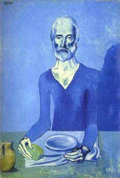 Pablo Picasso – 'L'ascete', 1903, Oil on canvas | Barnes Foundation, Philadelphia