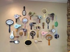 Gypsy Rose Salon, Vintage hair dryers and mirror wall. - Gypsy Rose Salon, Vintage hair dryers and mirror wall. Hey Chintomby Chintomby Chintomby L - Style Salon, Gypsy Rose, Hair Shop, Salon Design, Salon Interior Design, Design Design, Design Ideas, Vintage Hairstyles, Thrifting