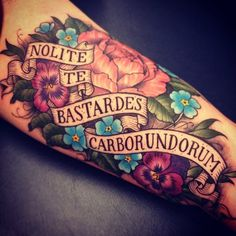 quote inked tattoo flower ink