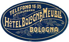 Typographic luggage label design
