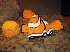 Infant Toddler Giddy Goldfish Clownfish Costume 2 Color Choices Halloween fnt