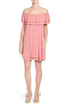 Rebecca Minkoff 'Deva' Tiered Off the Shoulder Dress
