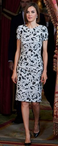 9 June 2015 - Queen Letizia joins King Felipe for lunch with President of Paraguay. Click to read more