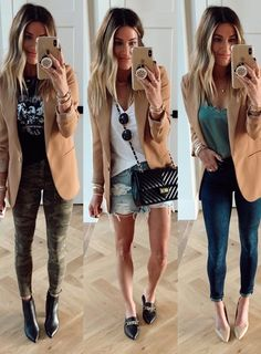 40 Ways to Style Leggings! - The Sister Studio Shoes For Leggings, Sweaters And Leggings, Sweater And Shorts, Leggings Fashion, Bodysuit And Jeans, Casual Fall Outfits, Casual Attire, Blazer Outfits, Work Attire