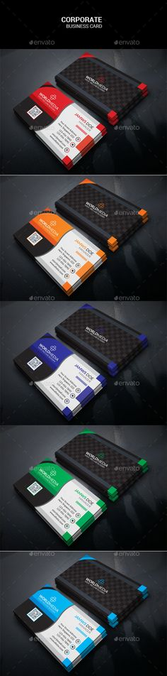 Corporate Business Card - #Corporate #Business #Cards Download here: https://graphicriver.net/item/corporate-business-card/19121396?ref=alena994