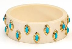 An ivory and turquoise bangle bracelet, Van Cleef & Arpels, circa 1970