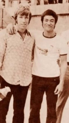 Chuck Norris y Bruce Lee