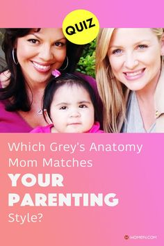 Which Grey's Anatomy mom matches your parenting style? Answer these seventeen questions in this personality quiz to find out. #greysmom #greysanatomymom #greysparents #greysfamily #greysmother #greys #parentingstyle #callieandarizona #GreysAnatomy #greysquiz #greyspersonalityQuiz #greysquizzes Callie Torres, Cristina Yang, Meredith Grey, Parenting Styles, Greys Anatomy, Quizzes, Seventeen, How To Find Out, Mom