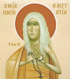 Greece -by Fikos~~~st.mary of egypt. St Mary Of Egypt, Russian Icons, Holy Rosary, Orthodox Christianity, Holy Cross, Orthodox Icons, Sacred Art, Egyptian, Catholic