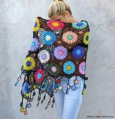 Crochet chal de grandes motivos circulares (5) (514x532, 248 KB)