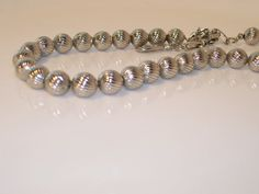 Vintage Coro Necklace Antiqued Silver Bead 17 by NonisEclecticShop, $22.50