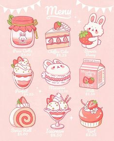 Faith Varvara Been a while since I've posted! I've been SUPER busy working on some new products for Cute Food Drawings, Cute Kawaii Drawings, Cute Animal Drawings, Art Kawaii, Arte Do Kawaii, Kawaii Stickers, Cute Stickers, Food Stickers, Arte Copic