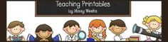 Teaching Printables  - an early educational website for teachers, childcare providers, homeschoolers and parents with unique printables that are fun and educational!