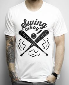 Swing Away on a White Shirt