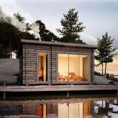 Sauna House, Sauna Design, Outdoor Sauna, Diy Shed Plans, Backyard Seating, Weekend House, Minimalist Living, Construction, Tiny House