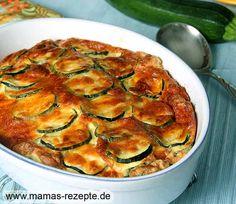Rezept Zucchini Quark Auflauf auf Mamas Rezepte Homepage