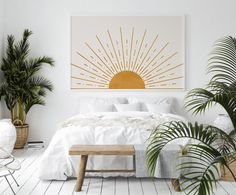 Diy Home Decor Bedroom, Bedroom Wall, Nature Bedroom, Nursery Room, Girl Nursery, Nursery Decor, Boho Living Room, Living Room Paint, Mid Century Modern Bedroom
