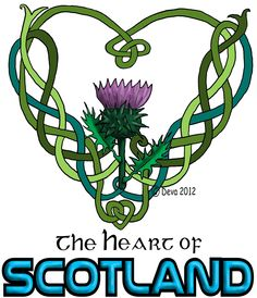 Scottish thistle and heart Small Celtic Tattoos, Celtic Knot Tattoo, Irish Tattoos, Celtic Knots, Scottish Symbols, Celtic Symbols, Celtic Art, Scottish Gaelic, Celtic Patterns