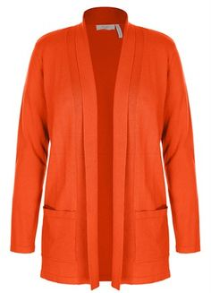 Edge To Edge Cardigan in mid orange from Millers woman fashion- trending colour for this autumn