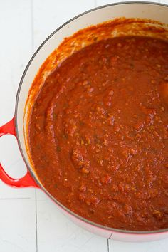 The BEST Meat Sauce. EVER. | browneyedbaker.com #recipe @browneyedbaker