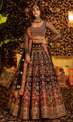 New Nomi Ansari Bridal Suits 2020 for Your Big DayYou can find indische kleider and more on our website.New Nomi Ansari Bridal Suits 2020 for Your Big Day Wedding Lehenga Designs, Designer Bridal Lehenga, Indian Bridal Lehenga, Indian Bridal Outfits, Pakistani Bridal Dresses, Pakistani Lehenga, Indian Bridal Fashion, Indian Bridal Wear, Bridal Anarkali Suits