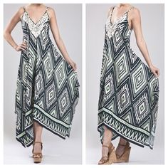Asymmetrical Draped Maxi Dress Brand new with tags. Fits TTS Blu Pepper Dresses Asymmetrical