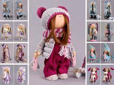 Baby doll Winter doll Handmade doll Red doll by AnnKirillartPlace