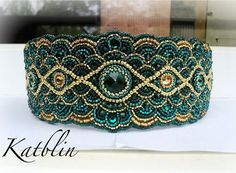 Embroidery Bracelets Patterns Beautiful embroidered jewelry by Kate Blinova Bead Embroidered Bracelet, Embroidery Bracelets, Bead Embroidery Jewelry, Beaded Embroidery, Seed Bead Jewelry, Beaded Jewelry, Beaded Bracelets, Jewellery, Bracelet Patterns