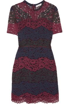 SANDRO Rodney guipure lace mini dress. #sandro #cloth #dress
