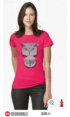 'Watchful Eye of Time' Owl Moth Scoop Neck Tshirt Women #artbyurte