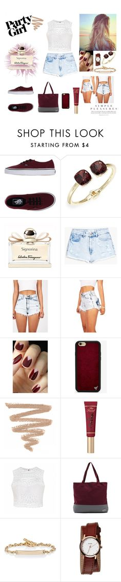 """""""Untitled #21"""" by lejlaaganovic ❤ liked on Polyvore featuring Vans, Cara, Salvatore Ferragamo, MANGO, Wildflower, Too Faced Cosmetics, Ally Fashion, Hoorsenbuhs, Nixon and cool"""
