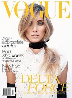 Delta Goodrem for Vogue Australia July 2012 in Louis Vuitton by Nicole Bentley Vogue Covers, Vogue Magazine Covers, Fashion Magazine Cover, Fashion Cover, Daria Werbowy, Joan Smalls, Vogue Australia, Karlie Kloss, Louis Vuitton