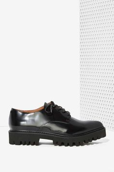 Jeffrey Campbell Seymour Leather Oxford Shoe