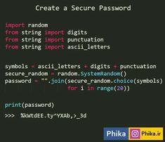 create a secure password in python Free Programming Books, Learn Computer Coding, Computer Programming Languages, Computer Basics, Computer Technology, Computer Science, Data Science, Language C, Arduino