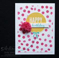Celebrate Today Stamp Set makes quick and cute birthday cards for 2015 ~ Cindy Schuster