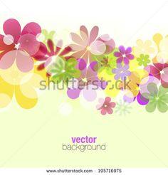 Summer flower vector illustration - stock vector