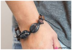 Smoothing Things Over in black This bracelet and so much more can be yours at Glamtastic Gems!