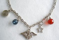Eagle Charm Necklace by bluewhitewear on Etsy