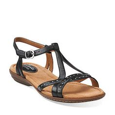 f68975f51bbe Roya Vanna in Black Leather - Womens Sandals from Clarks. Best Deals