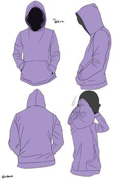 pixiv, hoodie reference, hood, clothing, hands in pockets Drawing Techniques, Drawing Tips, Drawing Sketches, Drawings, Drawing Reference Poses, Design Reference, Drawing Base, Figure Drawing, Drawing Drawing