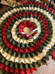 Ruffle christmas tree skirt