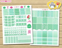 Mermaid and seaglass June Monthly kit for your Erin Condren.