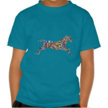 Colorful Unicorn Shiny Legendary Horse Mosaic Tshirts