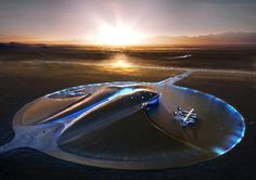 Located in the desert-like landscape of New Mexico, Spaceport is the first building of its kind in the world. Its design aims to articulate the thrill of space travel for the first space tourists while making a minimal impact on the environment.