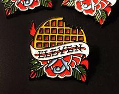Stranger Things Enamel Pin by DavisRiderPrints on Etsy Stranger Things Pins, Stranger Things Tattoo, Blog Website Design, Web Design, Branding, Cool Pins, Pin And Patches, Pin Badges, Graphic