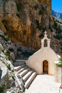De Kourtaliótiko-kloof op Kreta, Griekenland