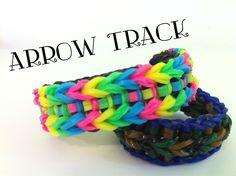 NEW Arrow Track Rainbow Loom bracelet