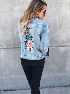 Ella Embroidered Denim Jacket