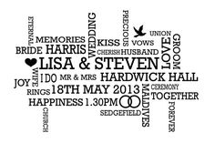 Personalised wedding word cloud https://www.etsy.com/uk/listing/152509809/personalised-wedding-word-cloud-art-gift?ref=shop_home_active